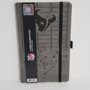 Houston Texans Faux Leather Laser Engraved Notepad
